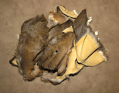 deer hide pieces